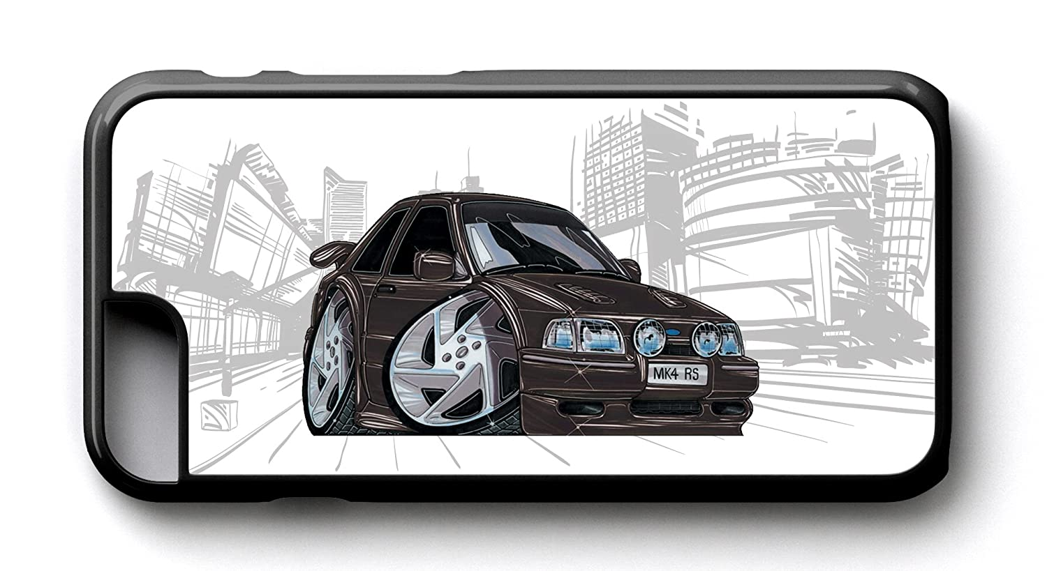 Carcasa de KOOLART unacaricatura de Ford Escort RS Turbo negro - iphone 6/6S funda: Amazon.es: Electrónica