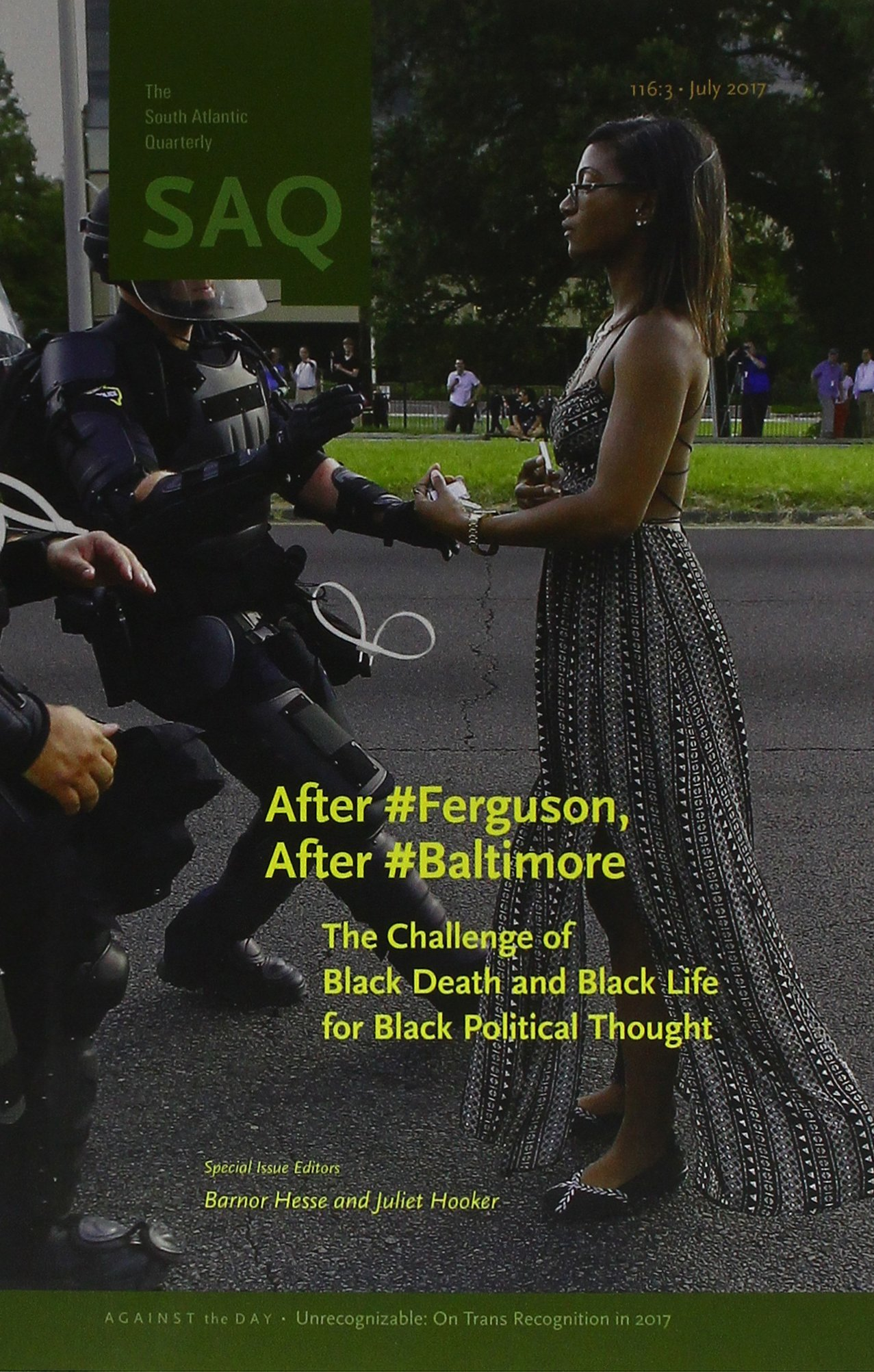 After #Ferguson, After #Baltimore: The Challenge of Black Death and Black Life for Black Political Thought: Amazon.co.uk: Barnor Hesse, Juliet Hooker: ...