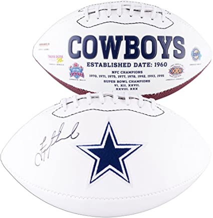 560e17c30 Image Unavailable. Image not available for. Color  Troy Aikman Dallas  Cowboys Autographed White Panel Football ...