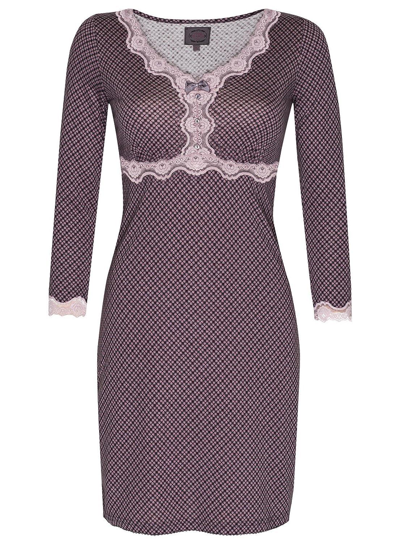 Vive Maria Elderberry Nachthemd grau Allover-Print