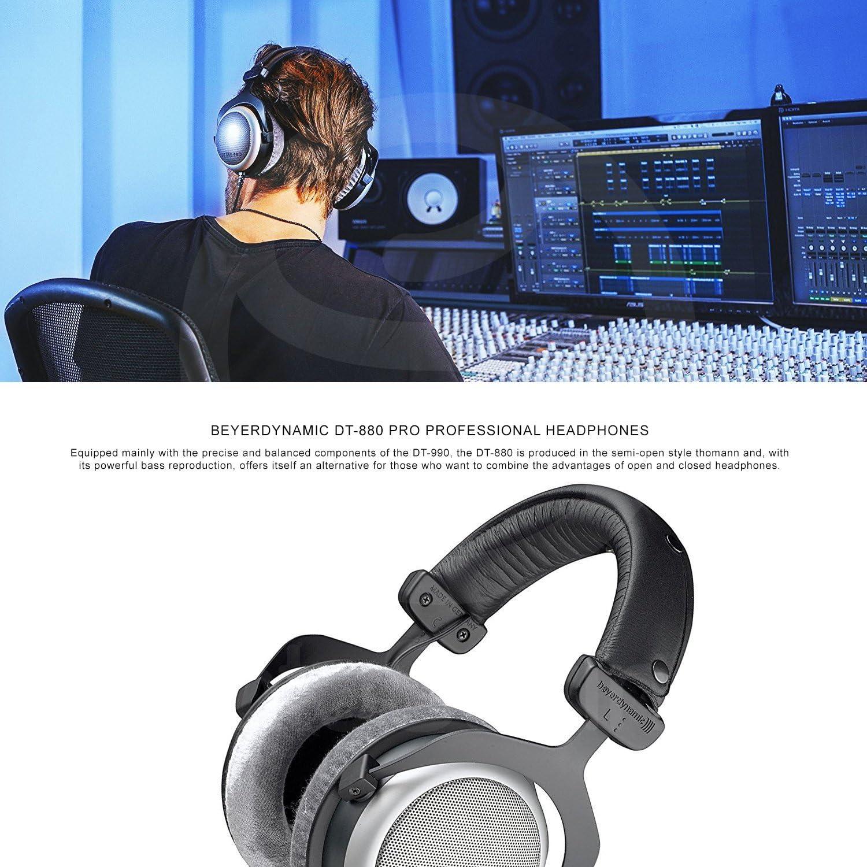 Beyerdynamic DT 880 Pro 250 Ohm amplificador de auriculares con + gamuza de limpieza + fibertique Bundle