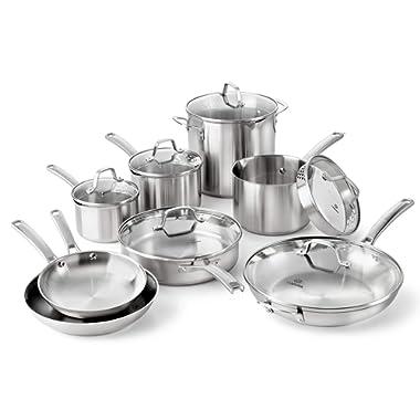 Calphalon Classic Stainless Steel Cookware Set, 14-Piece