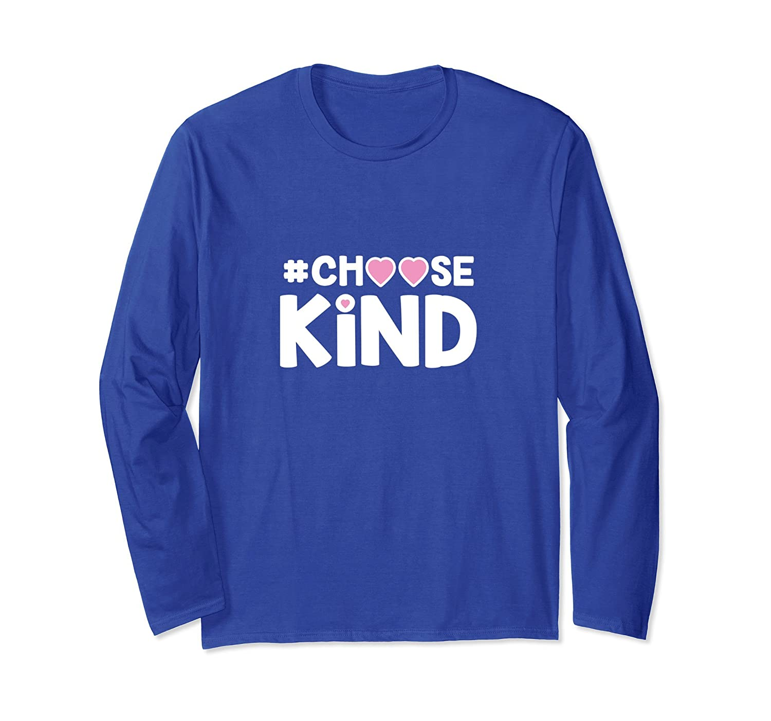 #ChooseKind Choose Kind Anti Bullying Long Sleeve Shirt-Rose