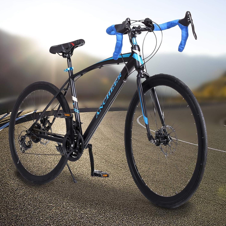 Amazon.com : Ancheer Road Bike 21 Speed 700C Hybrid Bicycle Mountain ...