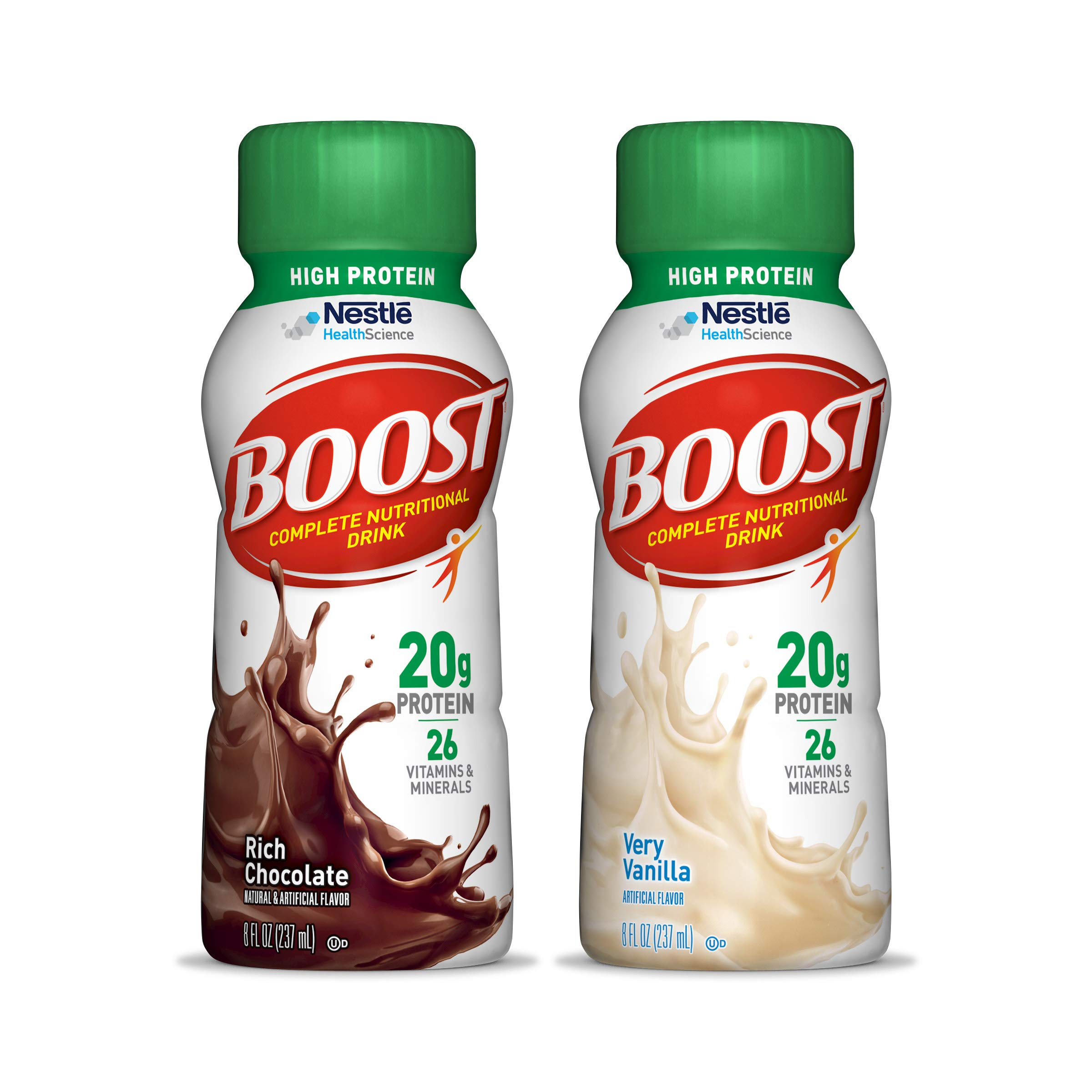 Boost High Protein Complete Nutritional Drink, Variety Pack, 8 fl oz Bottle, 24 Pack (Packaging May Vary) by Boost Nutritional Drinks