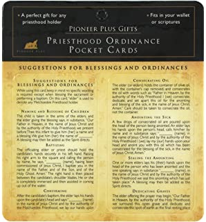 LDS Priesthood Ordinance Pocket Card