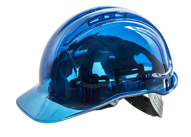Orange Workwear World WW336 Vented See Through Translucent Workwear Safety Hard Hat Helmet