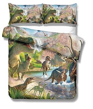Parure de lit KTLRR   Motif dinosaure   Sans couette, Polyester