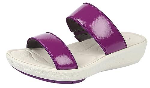 49a41c85509 Clarks Women s Wave Glitter Purple Fashion Sandals - 8 UK  Buy ...