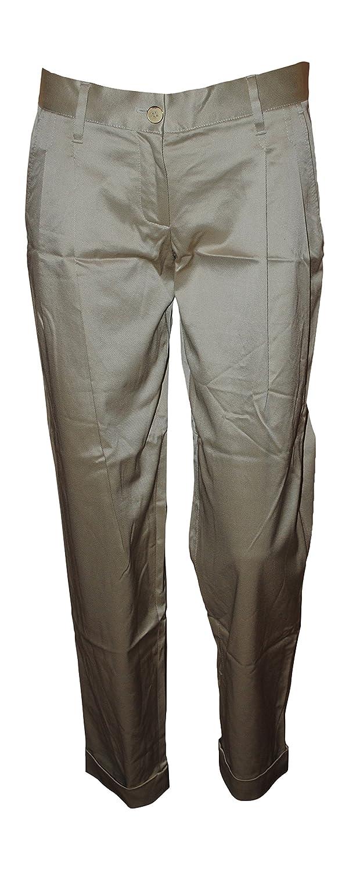 Dolce & Gabbana Women's Drill Mix VI Cropped Pants Beige