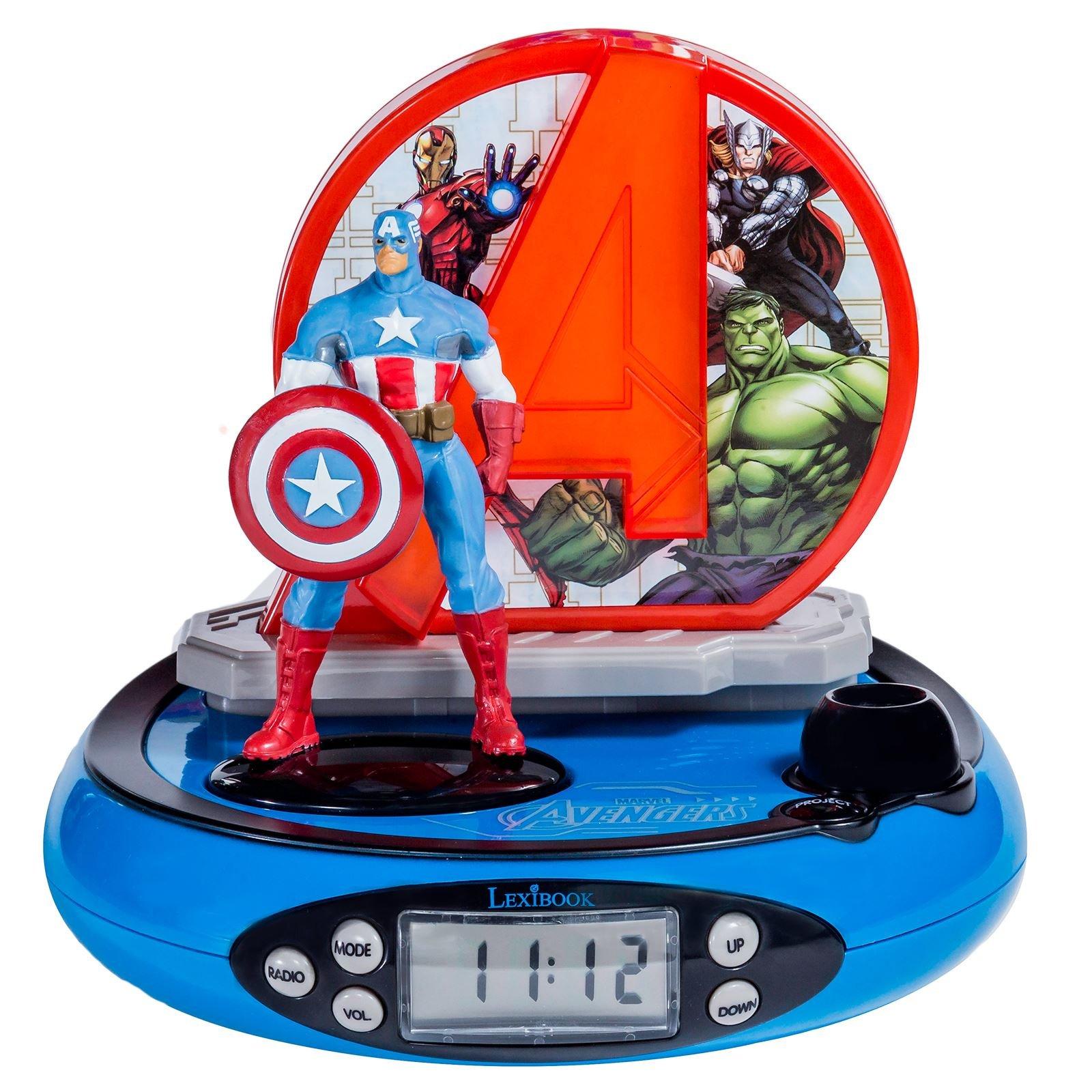 Avengers Projector Radio Alarm Clock (RP500AV)