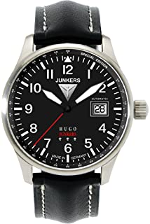 Junkers Mens Automatic Watch Hugo Junkers 66502 with Leather Strap