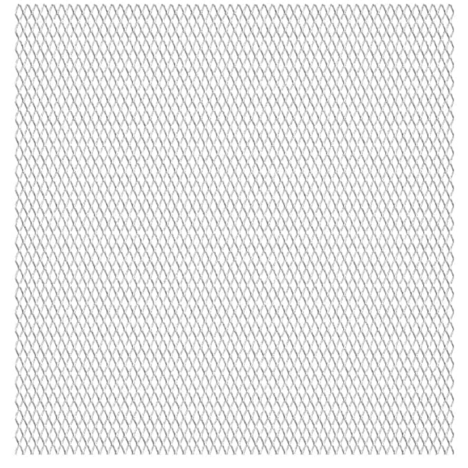 vidaXL Gittermatte Streckmetall Gitter Wellengitter Edelstahl 50/×50cm 31/×31/×3mm