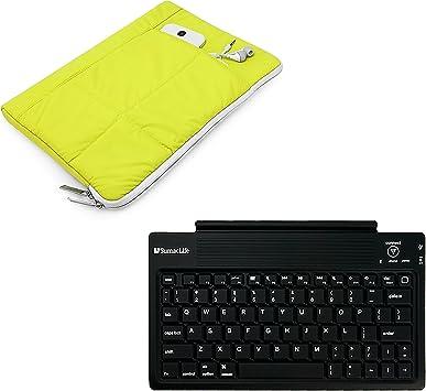 Sony Xperia Z Z2 Z3 Z4 Tablet luz Peso Acolchado Funda Carcasa + Bluetooth Teclado inalámbrico Verde Verde Lima 10