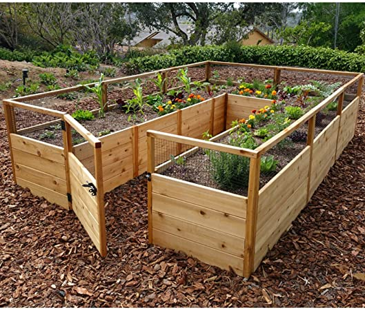 Amazon Com 8 X 12 Cedar Raised Garden Bed Garden Outdoor