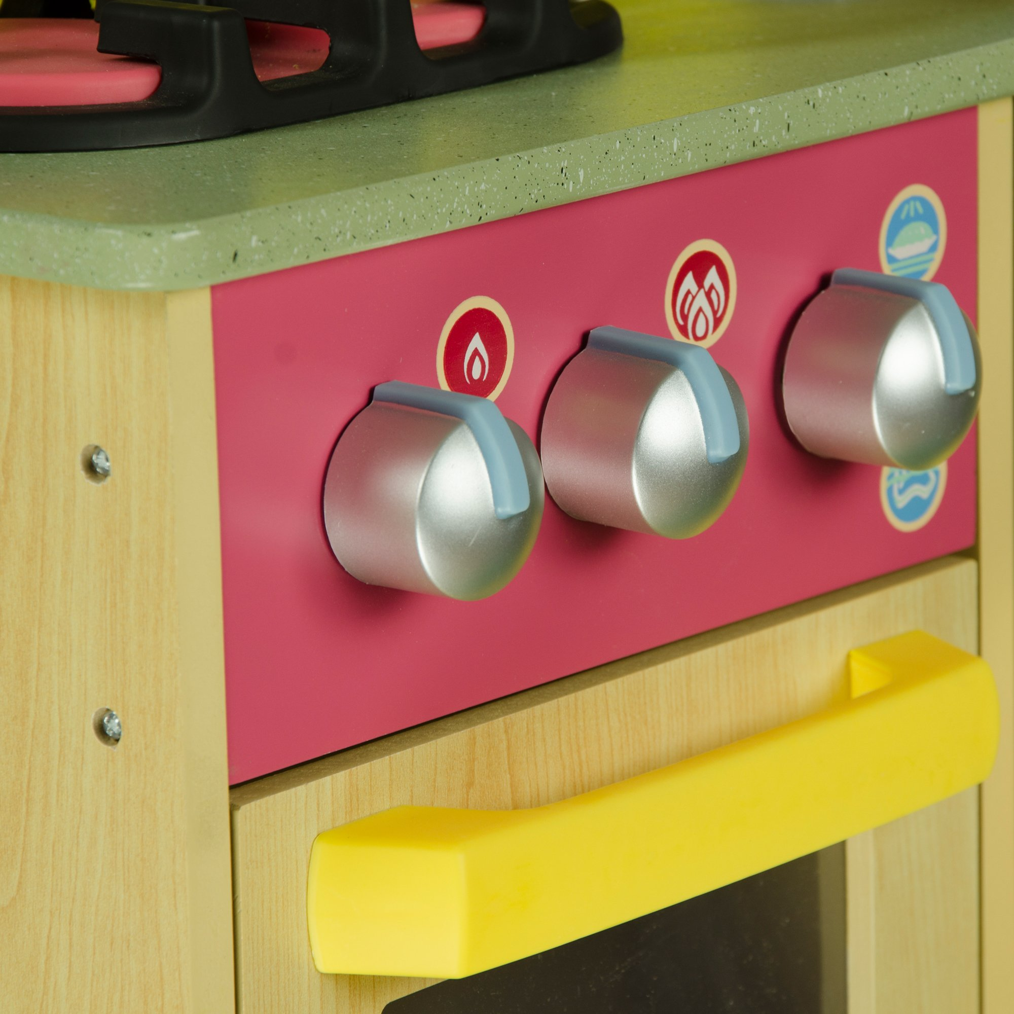 Teamson Kids - Little Chef Florence Classic Kids Play Kitchen | Toddler Pretend Play Set with Accessories - Wood Grain by Teamson Kids (Image #8)