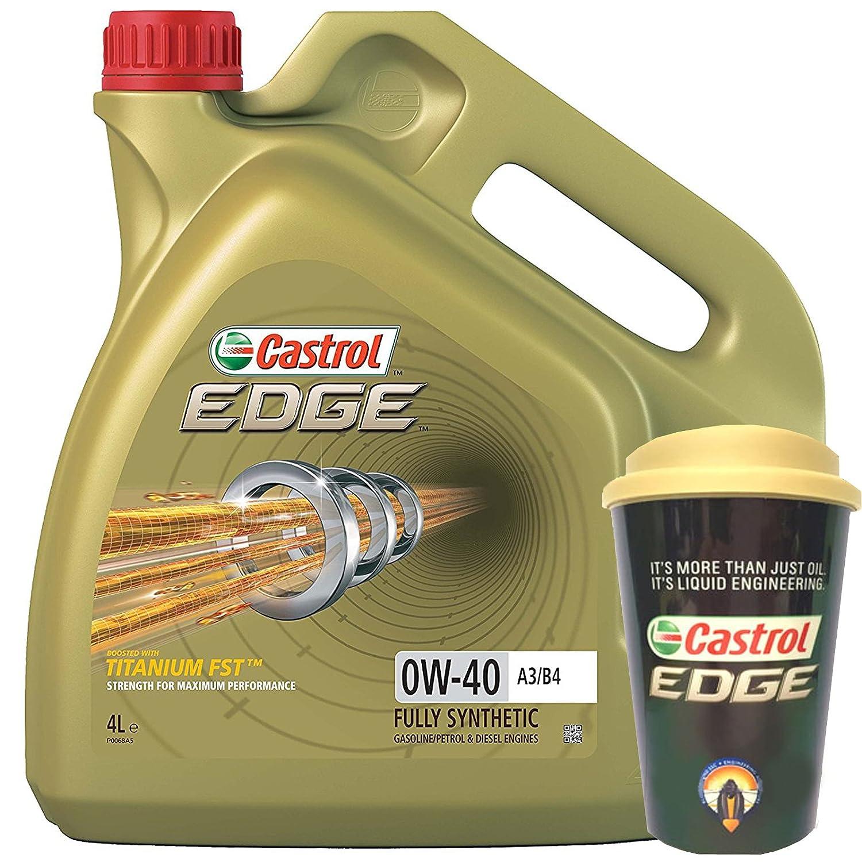 Castrol Edge 0W-40 A3/B3, A3/B4 - Aceite para motor de coche (4 L ...