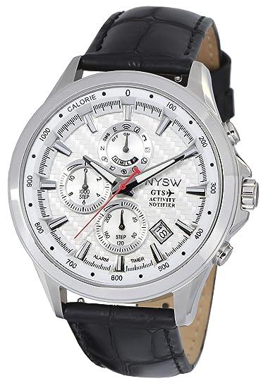 NYSW - Reloj Inteligente híbrido de Gran Clase, Cristal de Zafiro, Correa de Piel