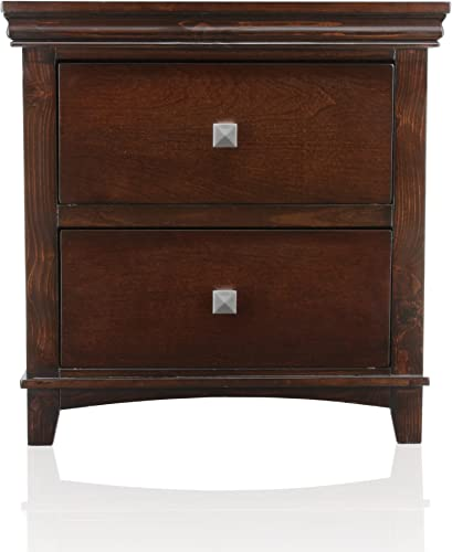 Furniture of America Pasha 2-Drawer Nightstand