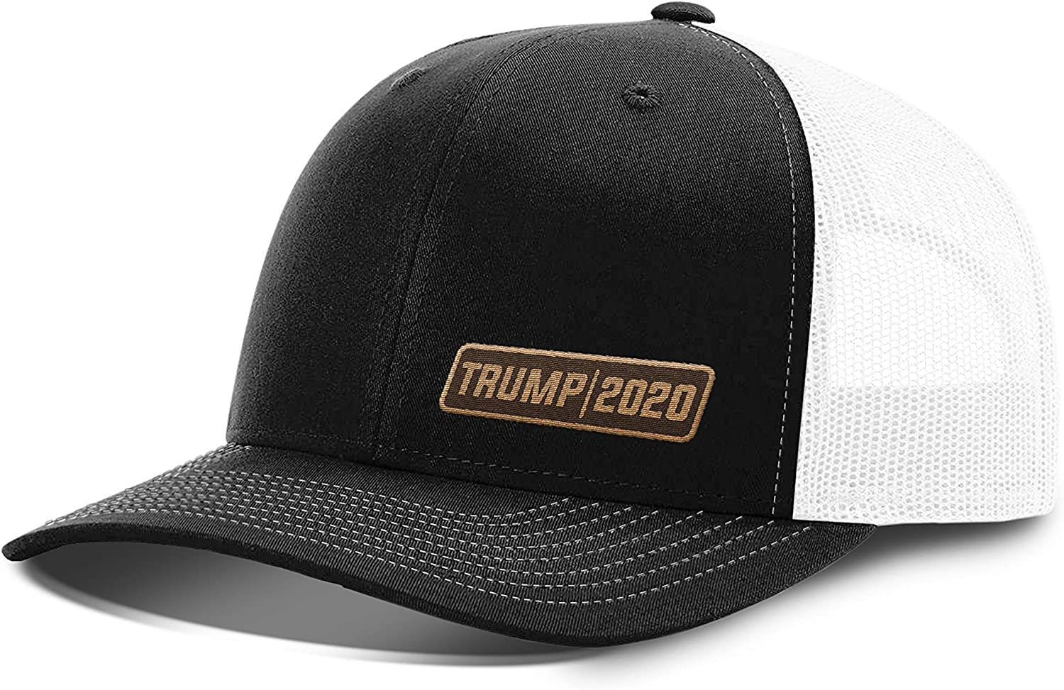 Printed Kicks Trump Hat 2020 Lower Left Leather Patch Back Mesh