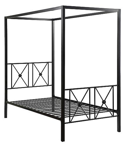 Amazon.com Homelegance 1759T-1 Rapa Metal Canopy Bed Twin Black Kitchen u0026 Dining  sc 1 st  Amazon.com & Amazon.com: Homelegance 1759T-1 Rapa Metal Canopy Bed Twin Black ...