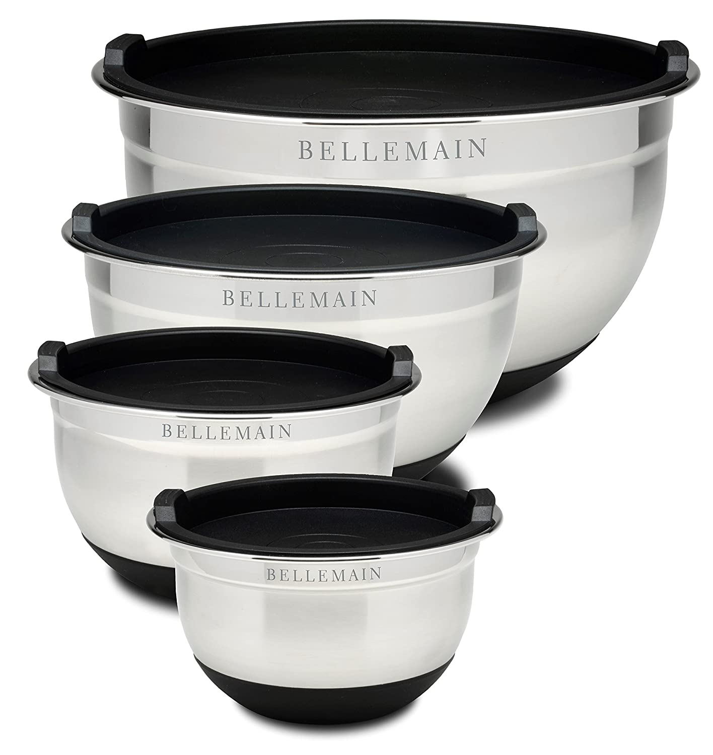 Top Rated Bellemain Stainless Steel Non-Slip Mixing Bowls with Lids,