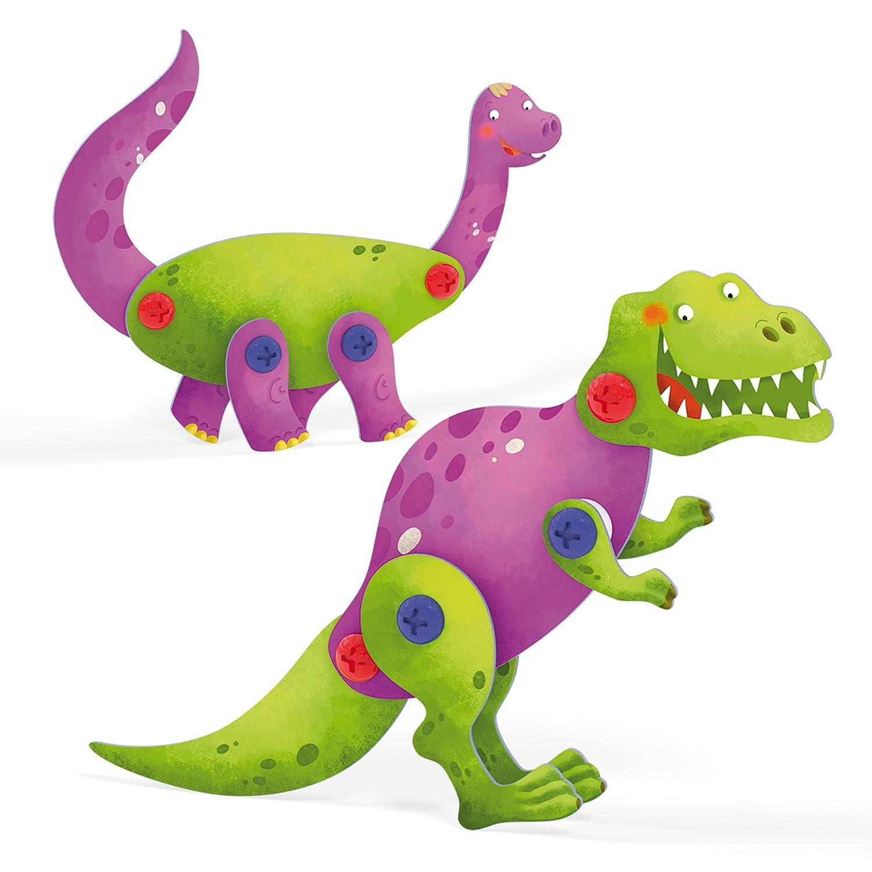 005439 Techno Dinosaurs 3D Puzzle Modello Quercetti