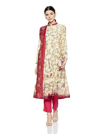 59f7b4fd9ac BIBA Women s Angrakha Salwar Suit Set  Amazon.in  Clothing   Accessories