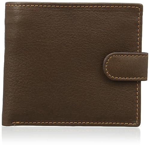 ASHWOOD - Cartera clásica de dos secciones - Con caja de regalo - Cuero - Marrón: Amazon.es: Equipaje