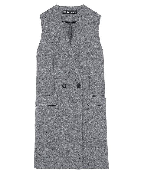 93136f9e Zara Women's Waistcoat with Pockets 2279/666 Grey: Amazon.co.uk ...