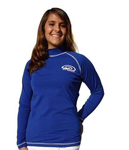 0b600bc728d Amazon.com  Long Sleeve Plus Size Rash Guard Swim Shirt - UV Sun Protection  Shirts - 50+ SPF   UPF - Men and Women (4XL-(54 inch chest))  Sports    Outdoors