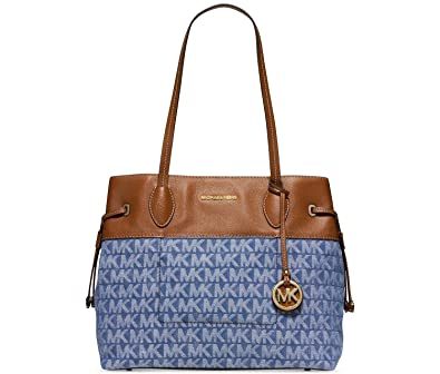 9c068b3f1e19 Image Unavailable. Image not available for. Color: Michael Kors Marina  North South Large Drawstring Tote