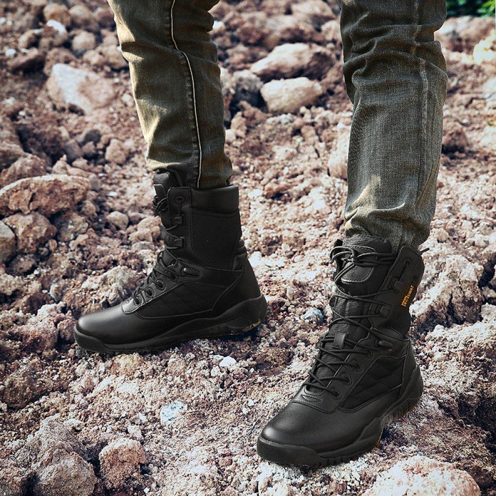 Nihiug Wanderschuhe Für Männer Professionelle Wasserdicht Leichte High Rise Wanderschuhe Professionelle Männer Militärstiefel Taktische Stiefel 6361ae