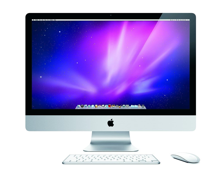 A Mac desktop computer with a mouse