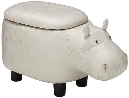 Fabulous Merax Wf038866Eaa Funfair Series Upholstered Ride On Storage Ottoman Footrest Stool With Animal Shape Inzonedesignstudio Interior Chair Design Inzonedesignstudiocom