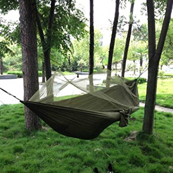 C&ing Hammock with Mosquito NetDouble Persons Iqammocking Bed Tent Portable Cot for Relaxation & Amazon.com: Camping Hammock with Mosquito NetDouble Persons ...