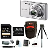 Sony DSCW830 DSCW830 W830 20.1 Digital Camera with 2.7-Inch LCD (Silver) + Me...