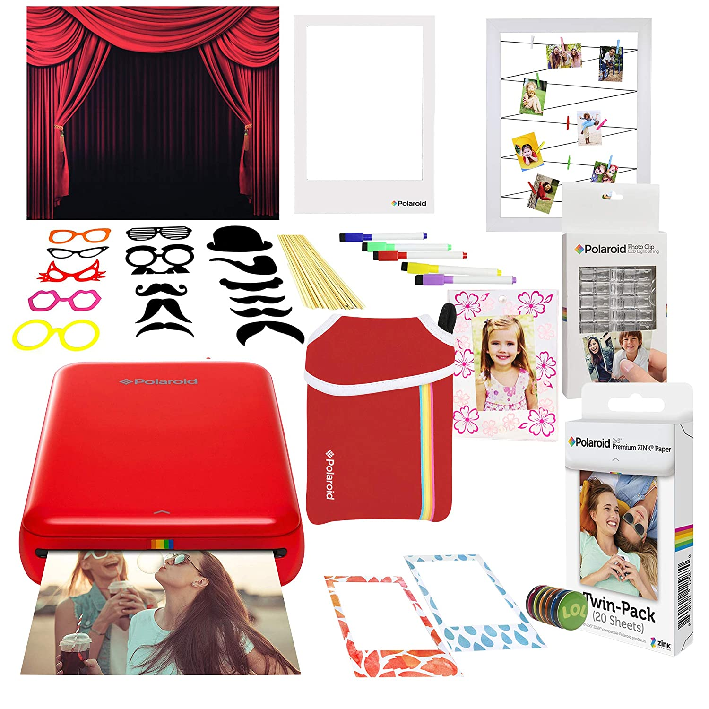 Polaroid Zip Impresora de Fotos Inalámbrica (Rojo) Paquete Cabina ...
