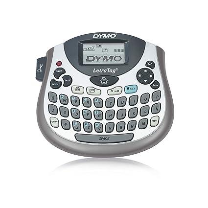 DYMO LetraTag LT-100T + Tape - Impresora de etiquetas (Térmica directa, 180 x 180 DPI, Gris, LCD, QWERTY, 9 etiqueta(s))