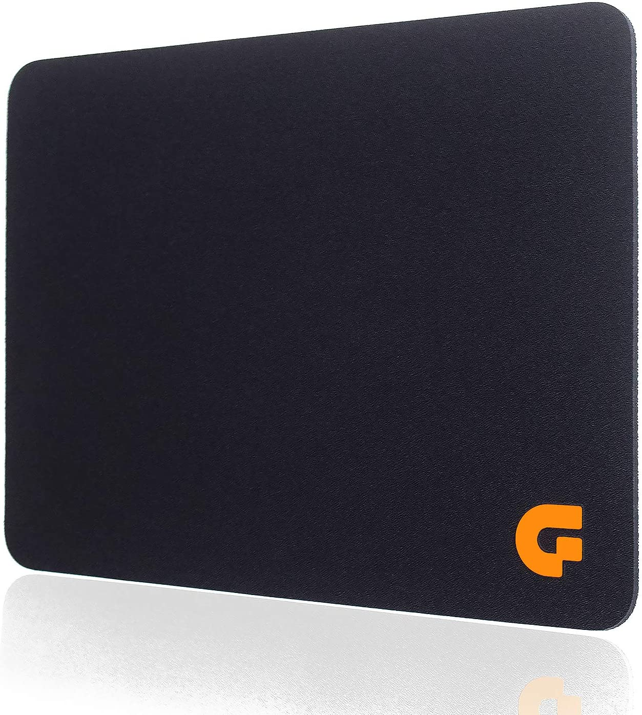 Guning Mouse Pads for Computers Black Smooth Waterproof Cloth Surface for Office and Gaming Portable Mousepad for Laptop Mac PC Accurate Smooth Moving