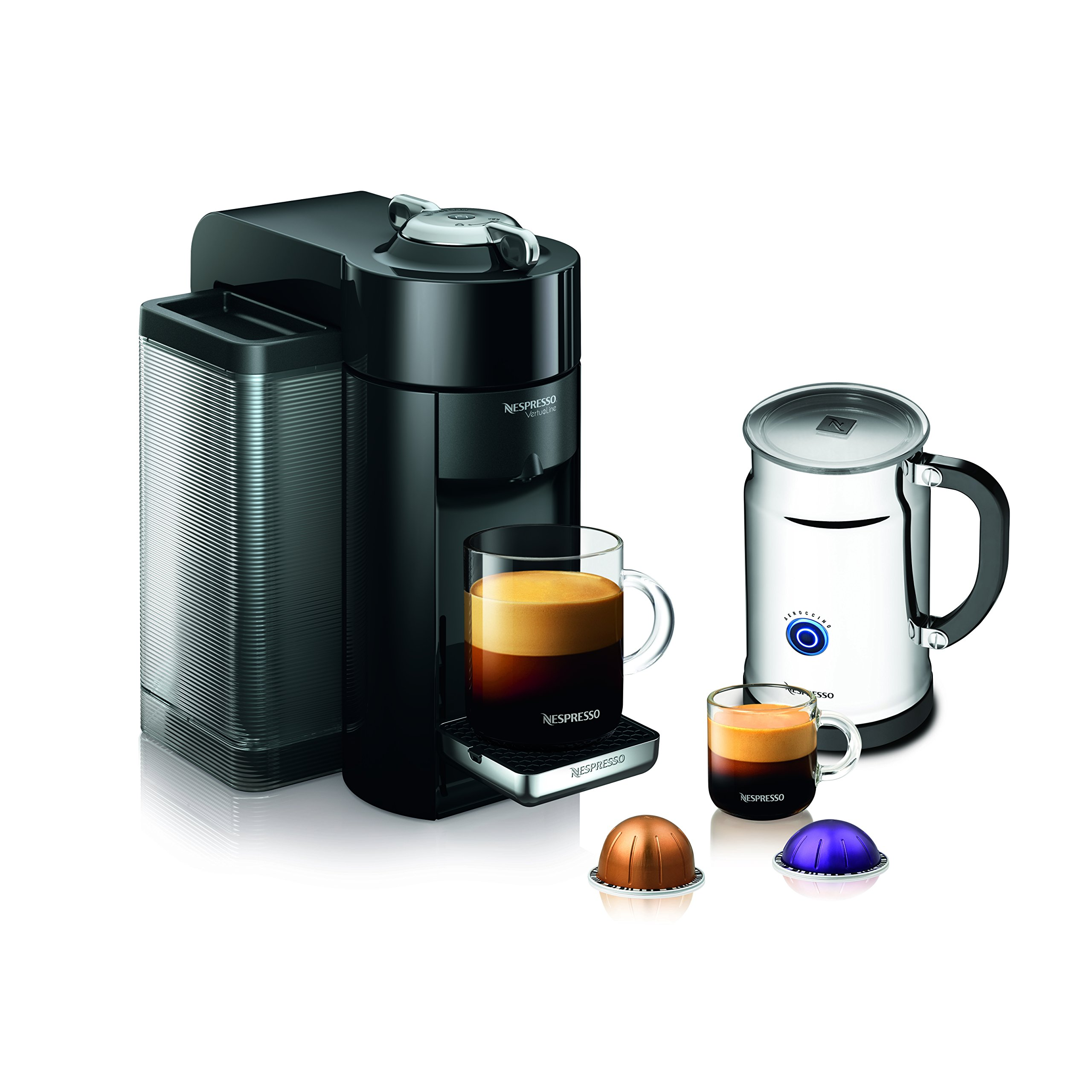 Nespresso A+GCC1-US-BK-NE VertuoLine Evoluo Deluxe Coffee & Espresso Maker with Aeroccino Plus Milk Frother, Black (Discontinued Model) by Nespresso (Image #1)
