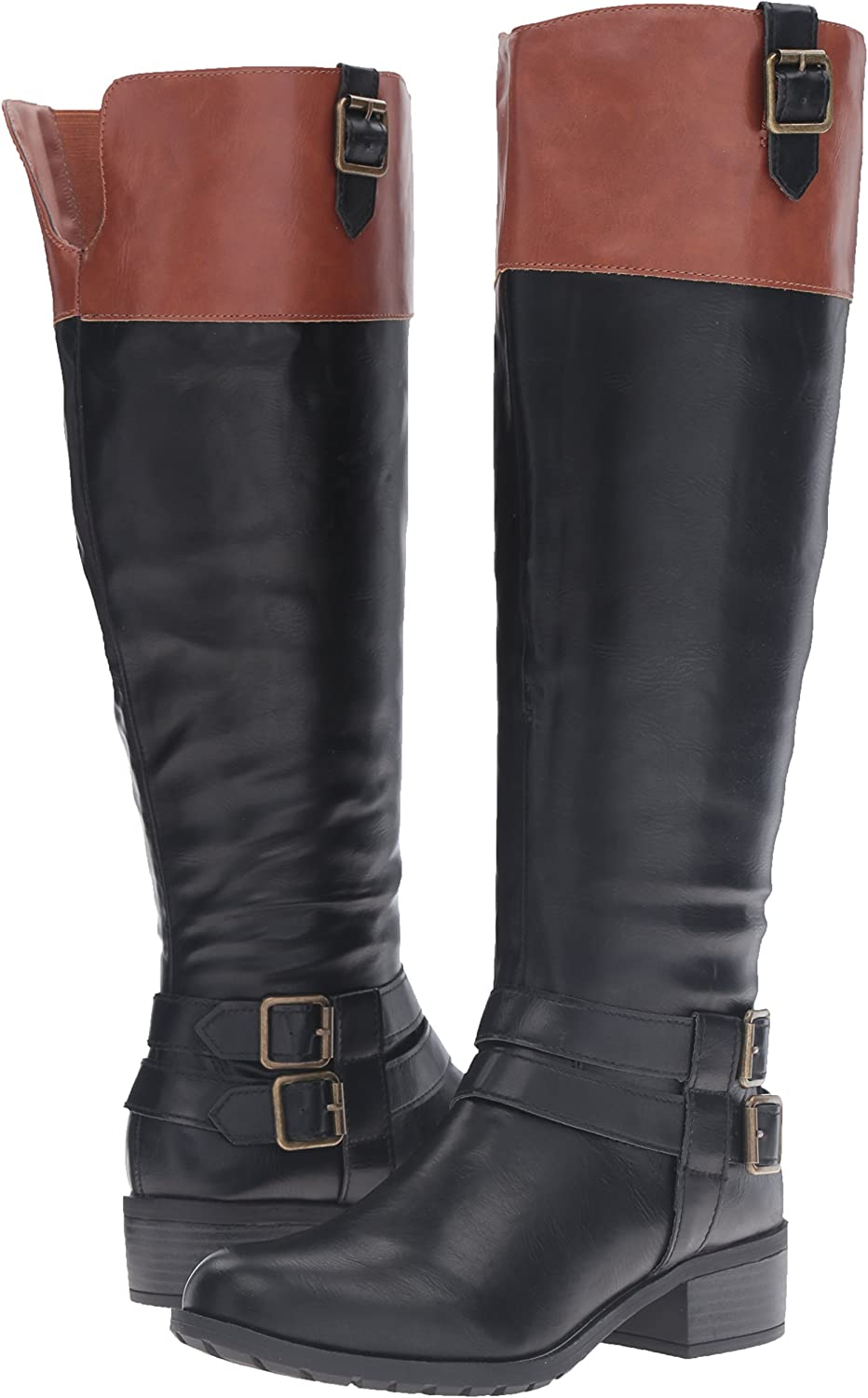 Rampage Womens Ingred Riding Boot with Buckles