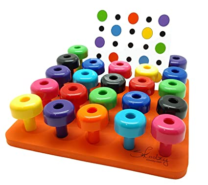 Amazon peg board stacking toys skoolzy fine motor skills toys peg board stacking toys skoolzy fine motor skills toys for toddlers occupational therapy activities for fandeluxe Images