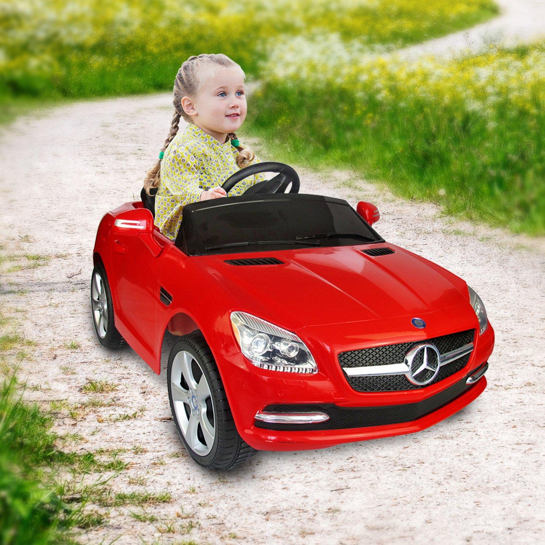 Coche Eléctrico Bateria V Automóviles Infantiles para Niños Mercedes Benz Color Rojo