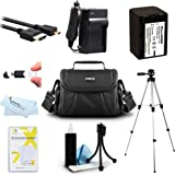 Must Have Accessory Kit For Sony HDR-CX220, HDR-CX330, HDR-CX900, HDR-PJ340, HDR-PJ670, FDR-AX33, FDR-AX53, FDRAX53/B HD Camcorder Includes Replacement NP-FV70 Battery + Charger + Case + 50 Tripod ++