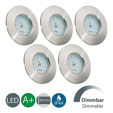 LED Badeinbaustrahler Dimmbar Ultra Flach Inkl. 5 x 5,5W 470 lm ...
