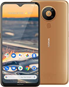 "Nokia 5.3 Android One Smartphone (Official Australian Version 2020) Unlocked Mobile Phone with Quad Camera, Large 6.55"" Screen, 2-Day Battery, European Design and Dual SIM, 64GB,Sand"