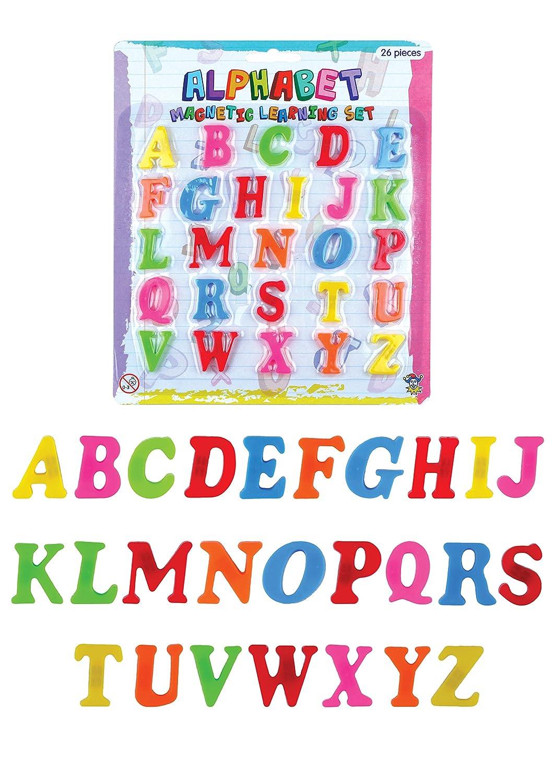 Juguetes educativos: 26 letras magnéticas de plástico [Toy]