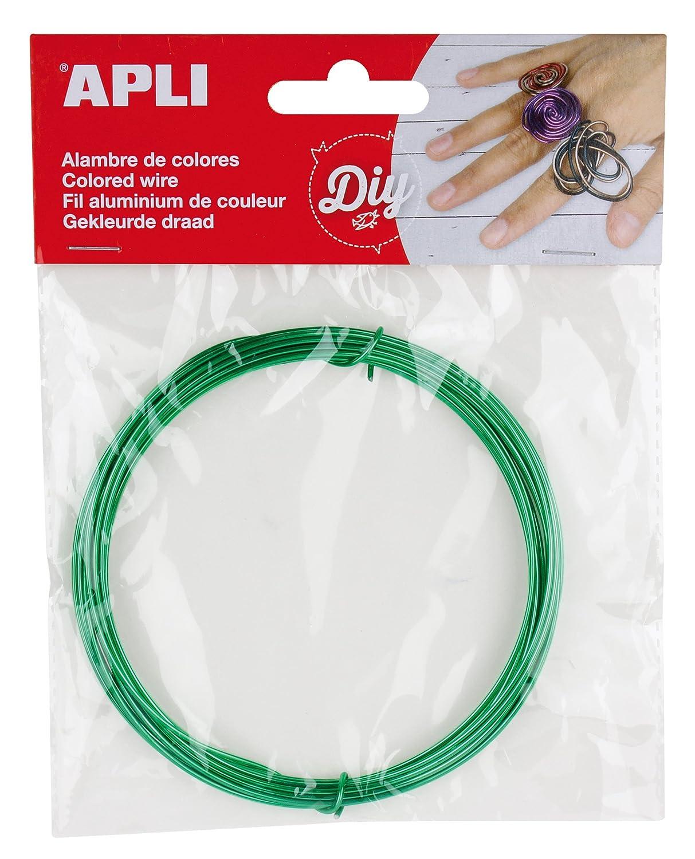Alambre APLI 14096 color verde 1.5 mm x 5 m