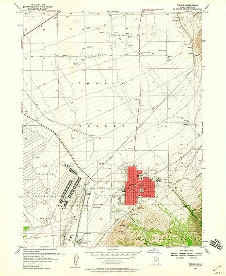 Amazon Com Yellowmaps Tooele Ut Topo Map 1 24000 Scale 7 5 X 7 5